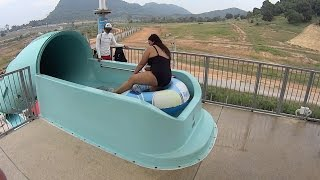 Scary Dark Water Slide at RamaYana Water Park