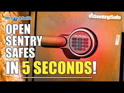 Open Sentry Safe in less than 5 seconds! Mr. Locksmith Video