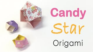 Easy☺︎ Origami Paper Candy Star Ball Tutorial - Origami Kawaii〔#158〕