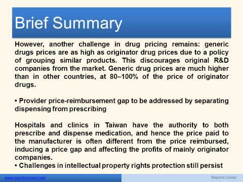 Taiwan Pharmaceutical Market Outlook 2013 - Report Corner