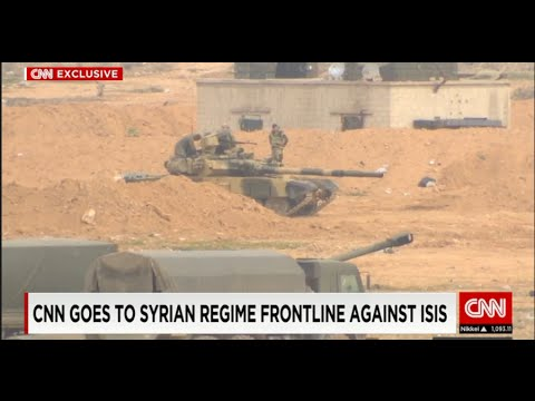 Syria Assad's frontline with ISIS