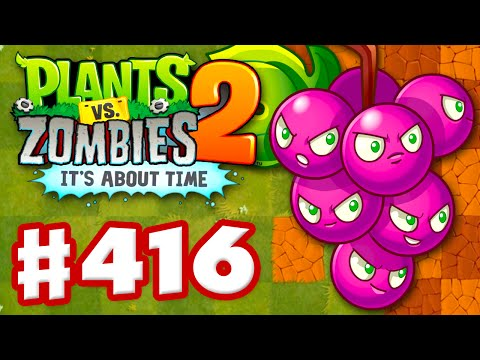 Plants vs. Zombies 2: It's About Time - Gameplay Walkthrough Part 416 - Grapeshot! (iOS)