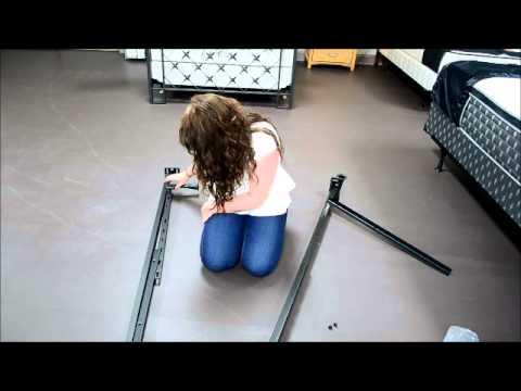 how to put a bed frame together youtube. Black Bedroom Furniture Sets. Home Design Ideas