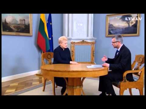 Dalia Grybauskaite: surprising end of the interview