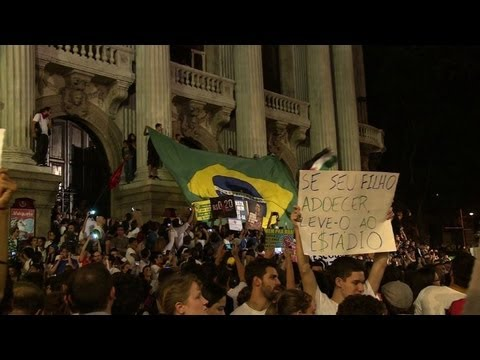 Tens of thousands protest Confed Cup costs in Brazil