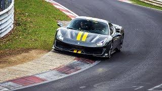 First Lap: Ferrari 488 Pista breaking in on the Nürburgring!