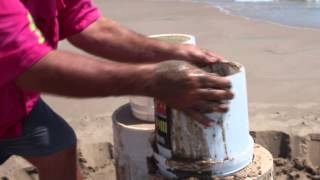 Sand Castle Snippets - Advanced Techniques - beginning your Sandcastle on the beach!