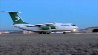 2015 01 15 IL76 Turkmenistan airlines takeoff from BRQ to ASB