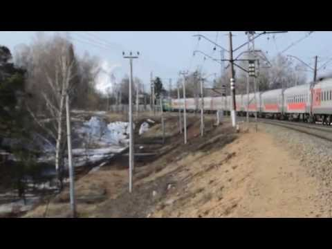 Паровоз П-36 на станции Хотьково