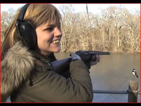 100 Pound Girl vs 12 Gauge Shotgun