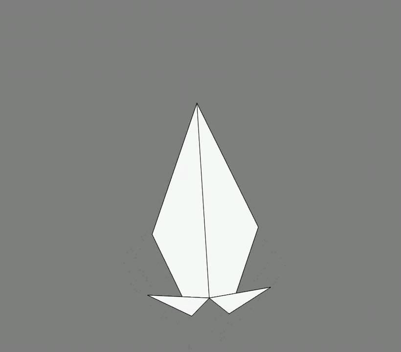 Оригами схема сборки ворона 2