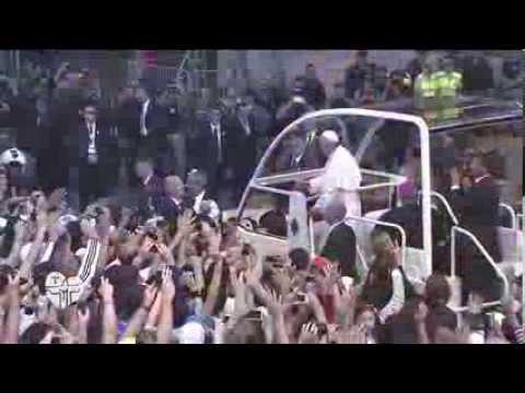 Papa Francisco durante a JMJ Rio 2013