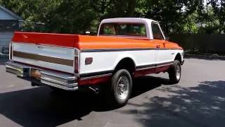 1972 Chevrolet K20 4x4 Custom Camper Edition Pick Up For Sale