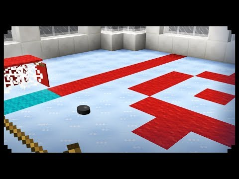 ✔ Minecraft: How to make an Ice Hockey Rink + Giveaway