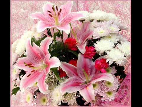 Открытки с днем рождения с цветами лилия 340