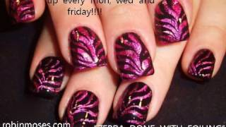 Cool Nails! Fun Zebra Foil Nail Art Design Tutorial