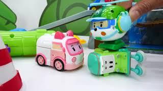 Robocar Poli Toys Répare Un Pont. Vidéo Pour Enfants
