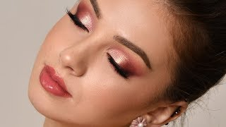 Rose Gold Smokey Eye Makeup Tutorial