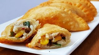 Cheesy Chicken Half Moon Pie l Iftar Special l Ramadan Recipes l Cooking with Benazir