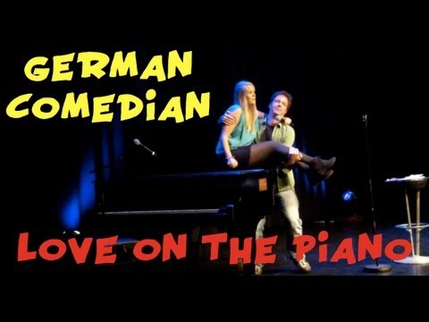 love with a german woman on the piano
