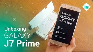 Samsung Galaxy J7 Prime - Unboxing/Hands-On en español