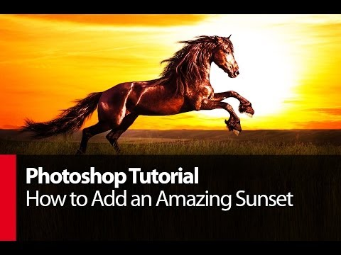 Photoshop Tutorial: How to Add an Amazing Sunset - PLP # 10 by Serge Ramelli