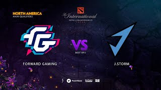 Forward Gaming vs J.Storm, TI9 Qualifiers NA, bo5, game 3 [Maelstorm & Mortalles]
