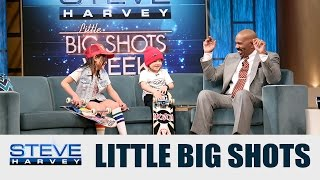 Little Big Shots: I just saw my shin bleeding || STEVE HARVEY