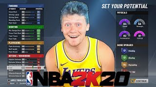 NBA 2K20 CREATING MY CHARACTER + FIRST IMPRESSIONS!