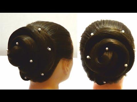 Прическа на длинные волосы за пару минут.Вечерняя прическа.Haircut for long hair