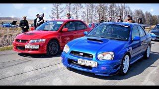 Subaru Impreza WRX STI vs Mitsubishi Lancer EVO 9