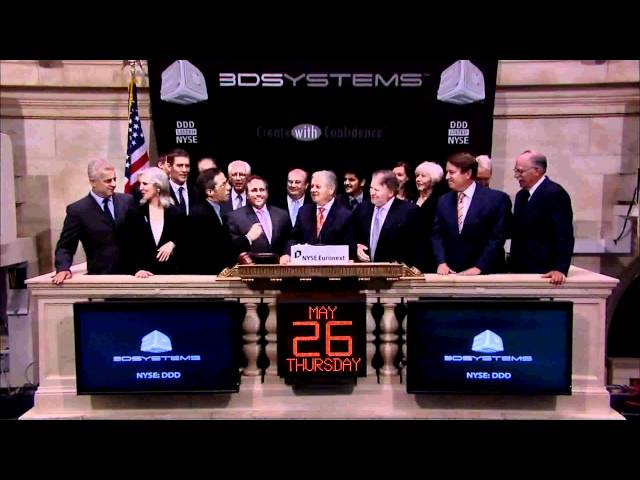 26 May 2011 3D Systems Corp. rings the NYSE Opening Bell