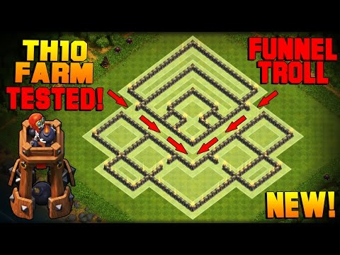 Clash of Clans   BEST TH10 Farming Base w/ NEW BOMB TOWER   Town Hall 10 Hybrid Base TESTED! [2016]