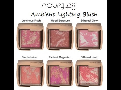 REVIEW & SWATCHES   NEW Hourglass Ambient Lighting Blushes
