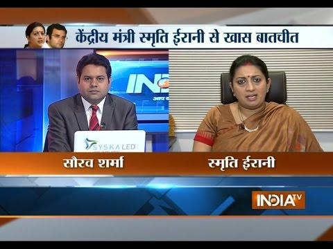 IndiaTV Exclusive: Smriti Irani clarifies her statement over Rahul Gandhi