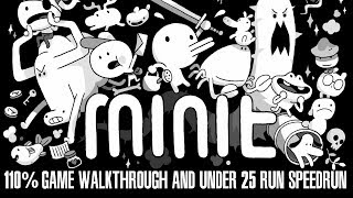 MINIT 110% Game Walkthrough and Under 25 Run Speedrun!