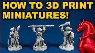 How to 3D print miniatures on a FDM printer