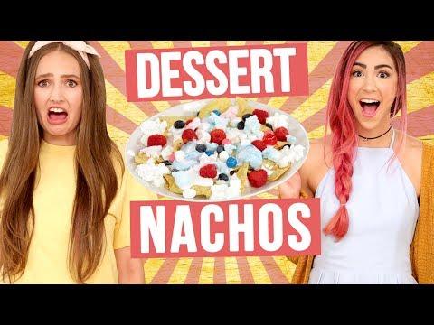 DESSERT NACHOS CHALLENGE?! Wheel of Food w/ Cassie Diamond & Courtney Randall