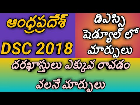 Andhra pradesh dsc notification 2018 schedule dates changed again|dsc schedule changes|changes in ds