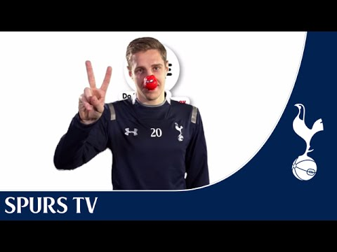Tottenham Hotspur's Michael Dawson plays charades for Red Nose Day!