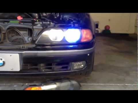 HALOGEN LIGHTS TO D2S HID XENON PROJECTOR HEAD LIGHT 97-03 BMW 5 SERIES E39 528I 525I 540I M5