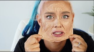 PEELING OFF A FULL FACE OF MAKEUP *SHOCKING*