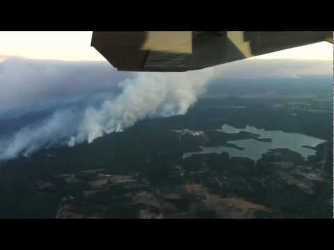 Bastrop TX Wildfire 2011 (view from airplane)