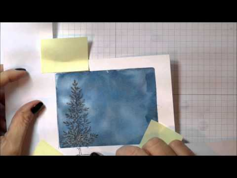 Lovely As A Tree Watercolor Christmas Card YouTube