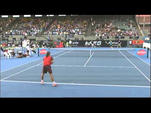 Alexandr Dolgopolov v Michael Llodra: World Tennis Challenge Adelaide 2012