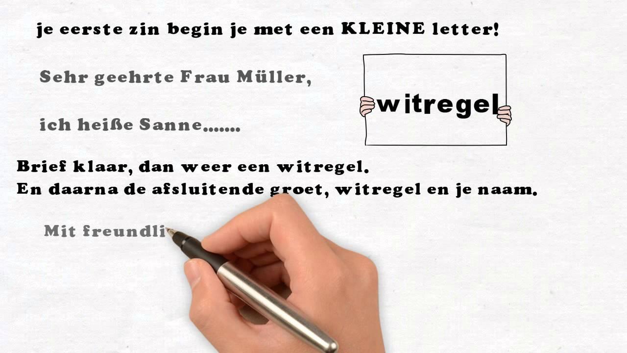 Aanhef Brief Duits | hetmakershuis