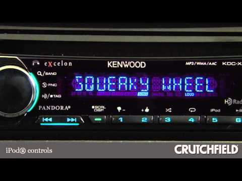 Kenwood Excelon KDC-X497 Car CD Receiver Display and Controls Demo | Crutchfield Video