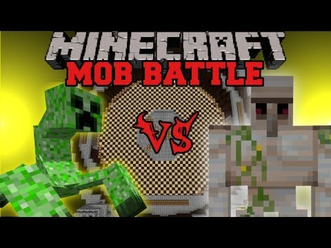 Iron Golem Vs Mutant Creeper - Minecraft Mob Battles - Mutant Creatures Mod