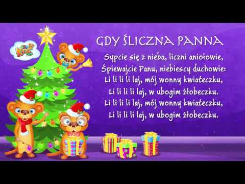 Polskie Kolędy - Gdy Śliczna Panna + Tekst (karaoke)