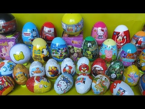 40 surprise eggs disney toys kinder surprise moshi monsters